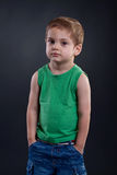 Preschoold boy posing Stock Photo