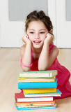 Preschooler with book Royalty Free Stock Photos