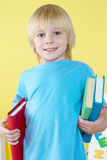 Preschooler with book Stock Image