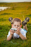 Preschooler boy Stock Images