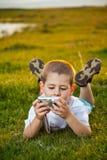 Preschooler boy Stock Images