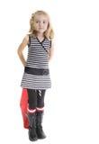 Preschooler con il sacchetto rosso fotografia stock libera da diritti