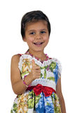 Preschooler girl hand with thumb up Royalty Free Stock Image
