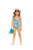Preschooler girl ready for beach Stock Photography