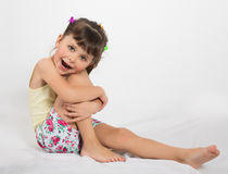 Preschooler girl in shorts and tank top Stock Photography