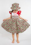 Preschooler girl in summer dress Royalty Free Stock Photography