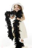 Preschooler grazioso in in bianco e nero Immagine Stock