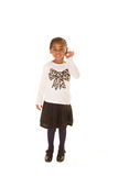 Preschooler isolated against a white background Stock Photography