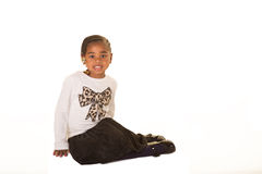 Preschooler isolated against a white background Stock Images