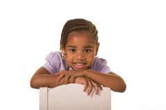 Preschooler isolated against a white background Royalty Free Stock Images