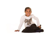 Preschooler isolated against a white background Royalty Free Stock Photos