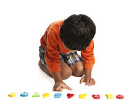 Preschooler Learning Numbers Royalty Free Stock Image