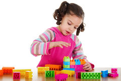 Preschooler playing Royalty Free Stock Images