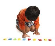 Preschooler que aprende números Imagem de Stock Royalty Free