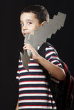Preschooler and sword Stock Photography