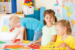 Preschoolers in the classroom Stock Photos