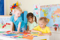 Preschoolers in the classroom Stock Photos