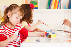 Preschoolers in the classroom Royalty Free Stock Image