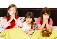 Preschoolers' Influenza Stock Photos