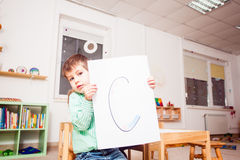 Preschoolers learn letters Royalty Free Stock Images
