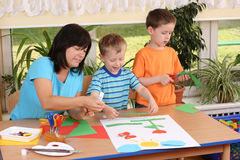 Preschoolers and manual skills Royalty Free Stock Photos