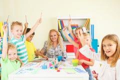Preschoolers with teacher Stock Image