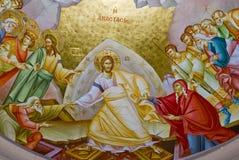 Presco dans l'église de Capernaum Photo stock