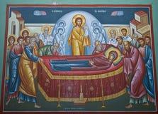 Presco nella chiesa di Capernaum Fotografie Stock