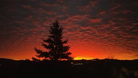 Prescott Arizona Sunrise Over Mountain Foto de Stock