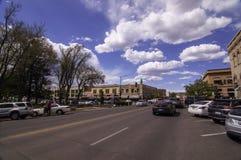 Prescott, Arizona, usa 04/22/2019 Gurley ulic przed gmach sądu kwadratem obrazy royalty free