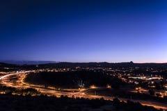 Prescott City Twilight royalty-vrije stock afbeelding