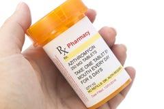 Prescrição genérica do Azithromycin do fac-símile imagens de stock