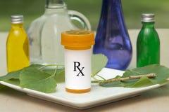 Prescrição natural imagem de stock