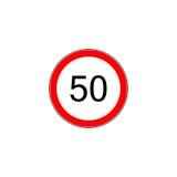 Prescribed minimum speed oad sign. Prescribed minimum speed limit. Vector road sign Stock Photos