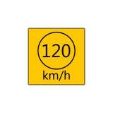 Prescribed minimum speed road sign. Prescribed minimum speed limit. Vector road sign Stock Photos