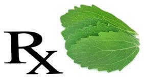 Prescribed stevia leaf Stock Images