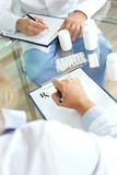 Prescribing tablets Stock Images