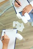 Prescribing tablets Stock Images