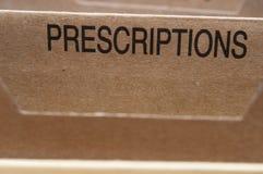 Prescrições Fotografia de Stock