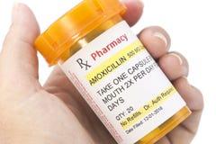 Prescripción de la amoxicilina del facsímil Imagen de archivo