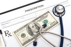 Prescripción de la medicina Imágenes de archivo libres de regalías