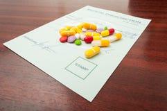 Prescripción del doctor para las drogas Imagen de archivo