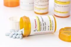 Prescripción del sodio de Levothyroxine Foto de archivo libre de regalías