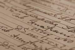 Prescripción médica manuscrita Fotografía de archivo
