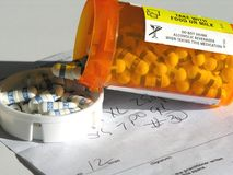 Prescripción y medicación. Imagenes de archivo
