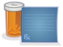 Prescripción y píldoras Imagen de archivo libre de regalías