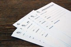 Prescripciones en blanco Imagenes de archivo