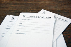 Prescripciones en blanco Imagen de archivo