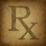 Prescription avec la texture grunge de cru illustration libre de droits