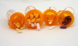 Prescription bottle. Several prescription bottles with medicine inside Royalty Free Stock Photos